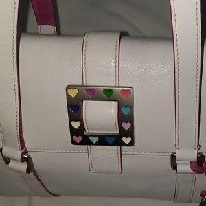 Pink & White leather Dooney & Bourke bag